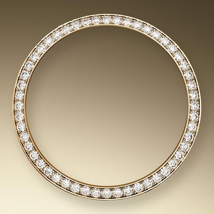 diamond set bezel yellow gold and diamonds 46127