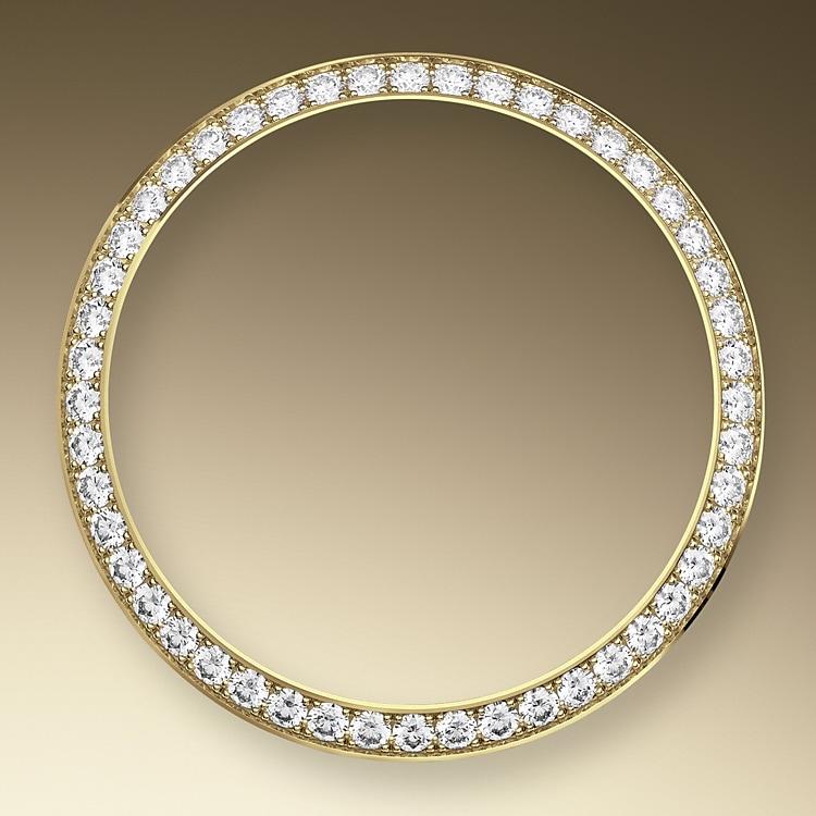 diamond set bezel yellow gold and diamonds 46452