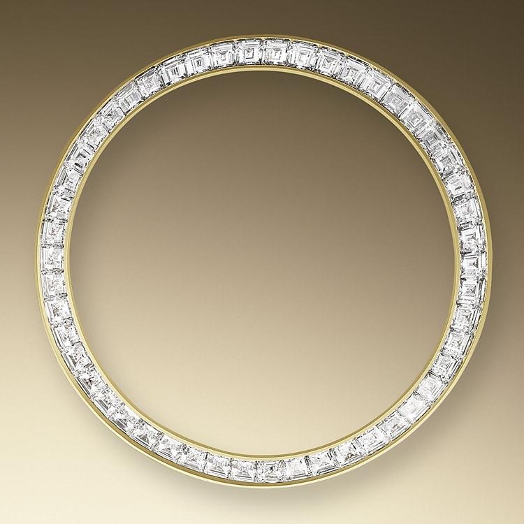 diamond set bezel yellow gold and diamonds 46453