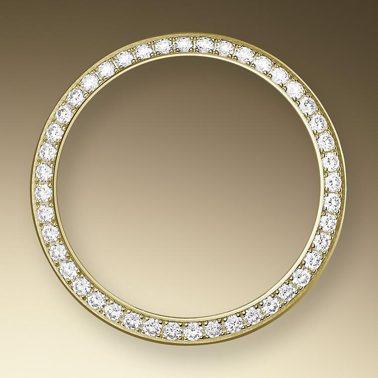 diamond set bezel yellow gold and diamonds 50356