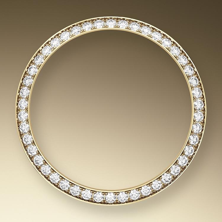 diamond set bezel yellow gold and diamonds 50599