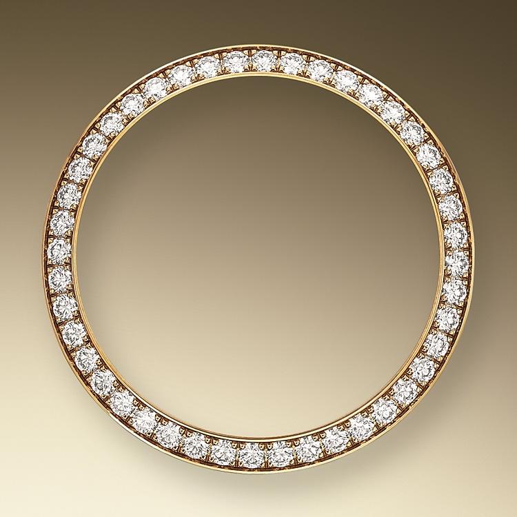 diamond set bezel yellow gold and diamonds 52098