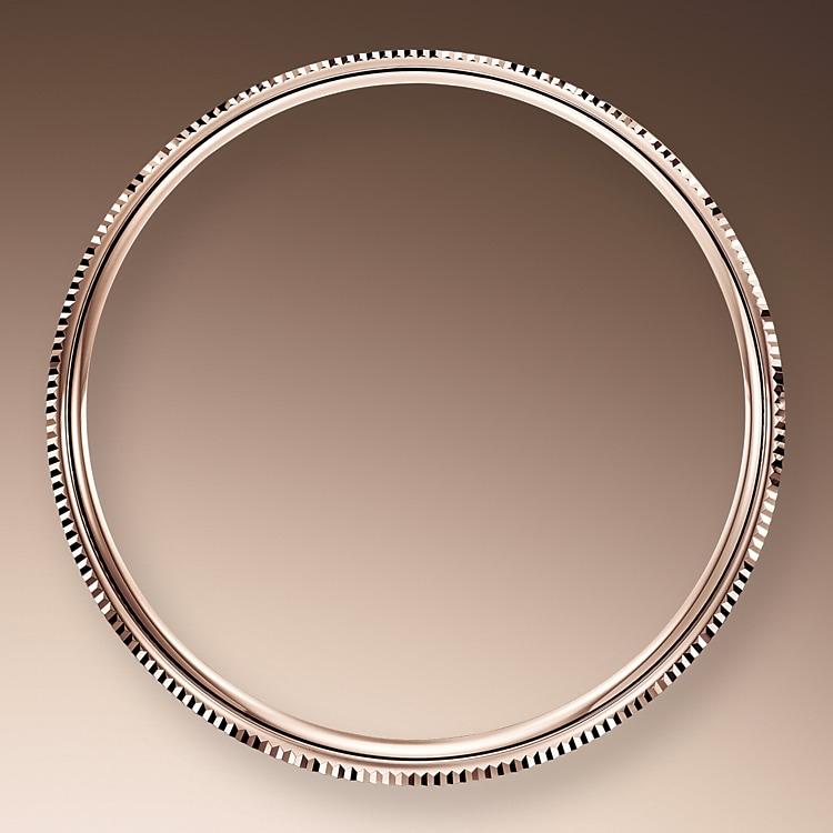 domed and fluted bezel everose gold 50769