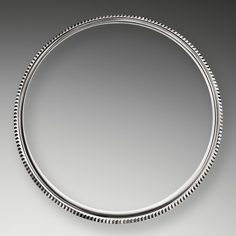 domed and fluted bezel white gold 50064
