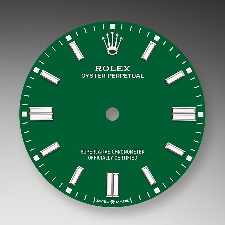 green dial oystersteel 52179 g 36