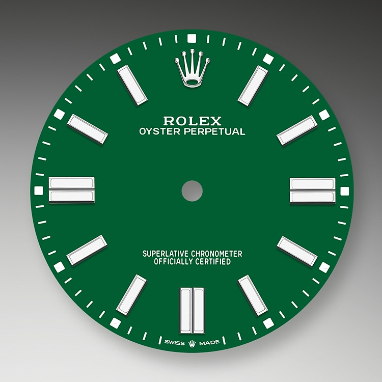 green dial oystersteel 52183 g 41