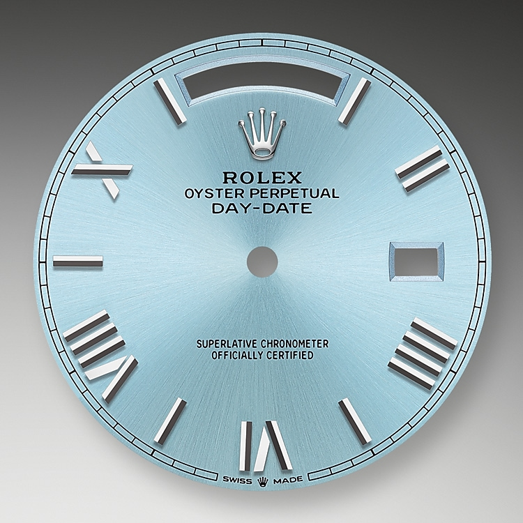 ice blue dial platinum 52330 g 40