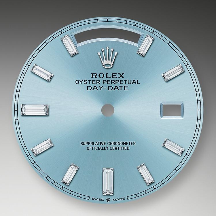 ice blue dial platinum and diamonds 46196 g 40