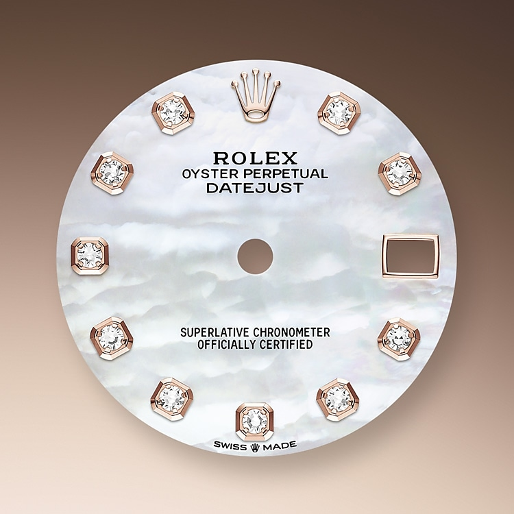 mother of pearl dial everose gold and diamonds 50975 p 31