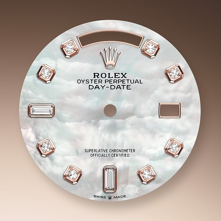 mother of pearl dial everose gold and diamonds 51765 p 36