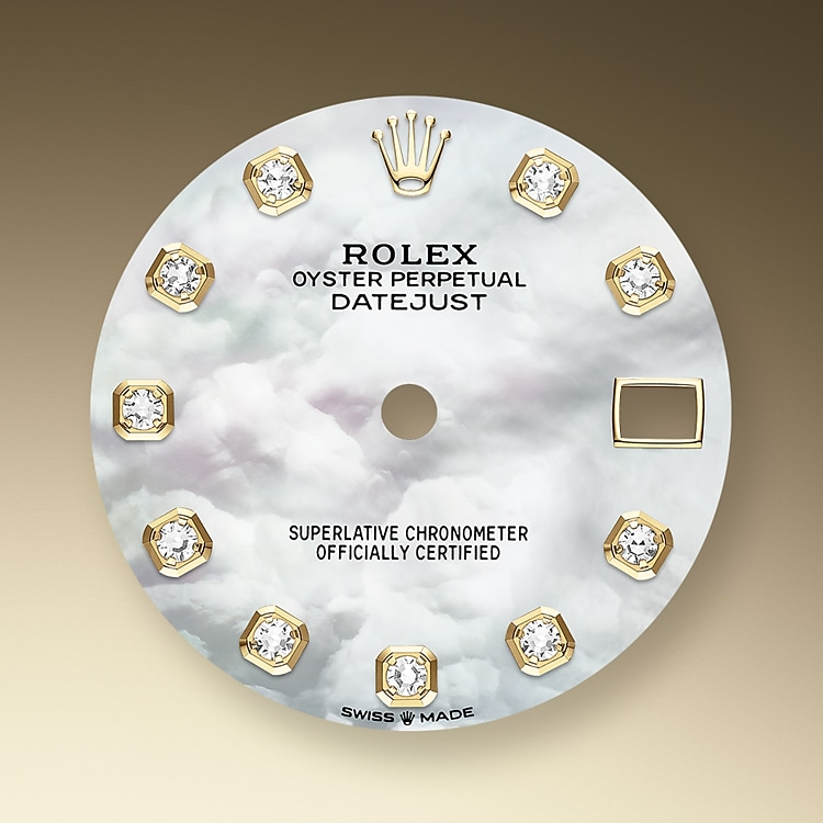 mother of pearl dial yellow gold and diamonds 50964 y 31