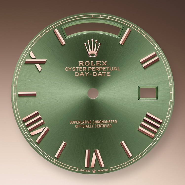 olive green dial everose gold 50833 p 40