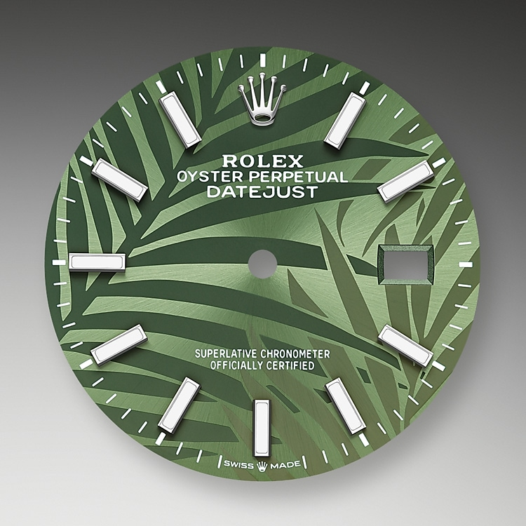 olive green dial oystersteel 52491 g 36