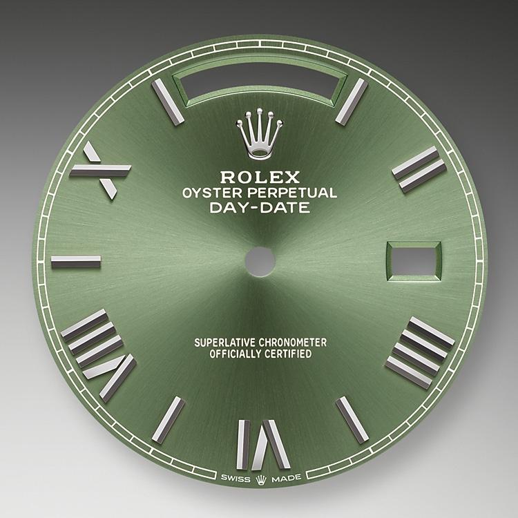 olive green dial white gold 50832 g 40