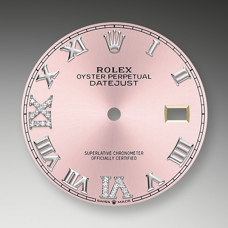 pink dial oystersteel  white gold and diamonds 51426 g 36