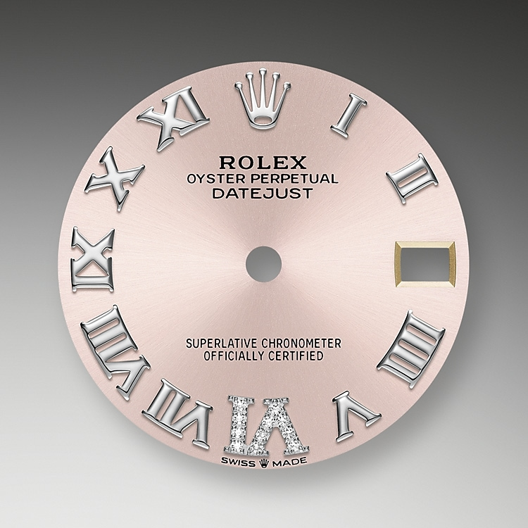 pink dial oystersteel  white gold and diamonds 52067 g 31