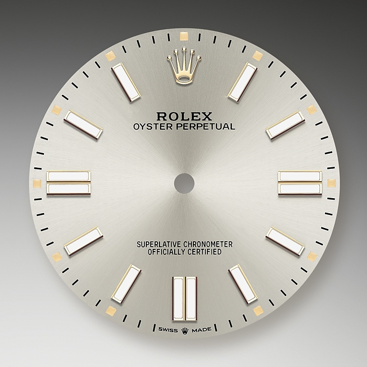silver dial oystersteel 51236 g 41