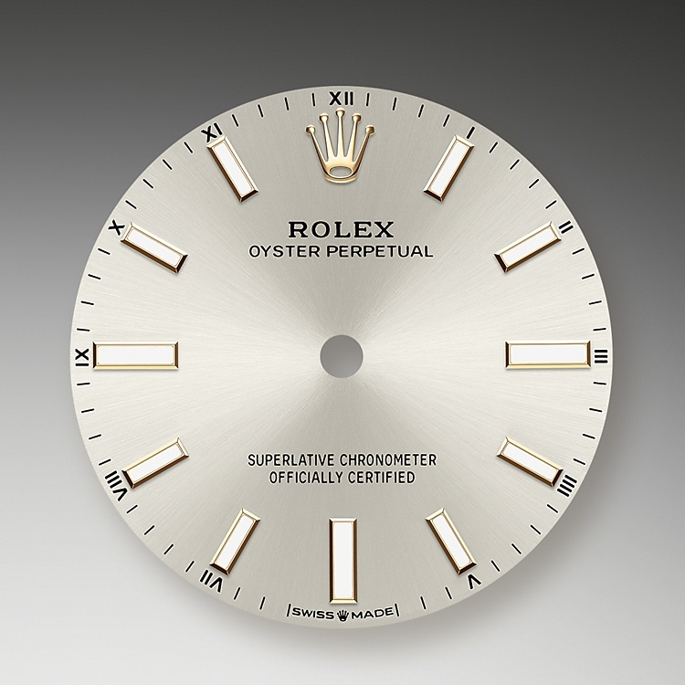 silver dial oystersteel 51800 g 34