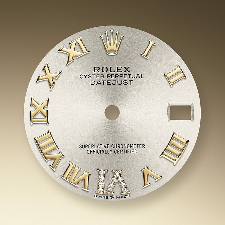 silver dial oystersteel  yellow gold and diamonds 50740 g 31