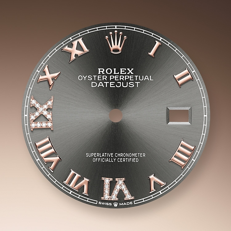 slate dial oystersteel  everose gold and diamonds 51192 g 36