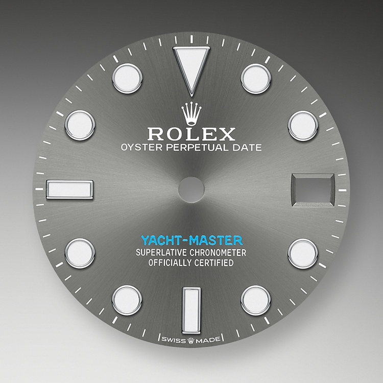 slate dial oystersteel and platinum 50665 g 37