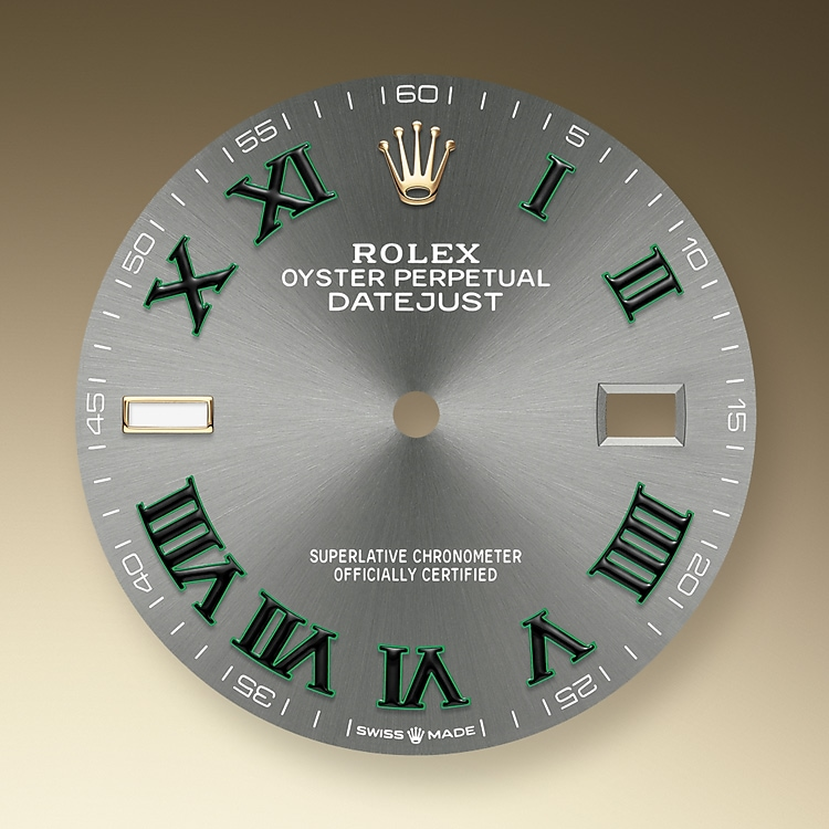 slate dial oystersteel and yellow gold 52320 g 36