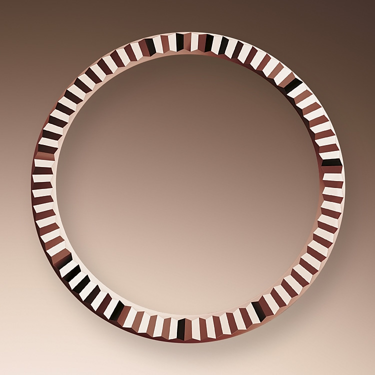 the fluted bezel oystersteel and everose gold 50595