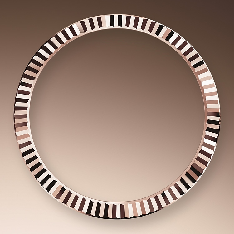 the fluted bezel oystersteel and everose gold 50644