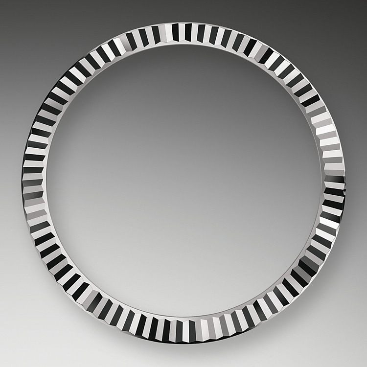 the fluted bezel oystersteel and white gold 50640