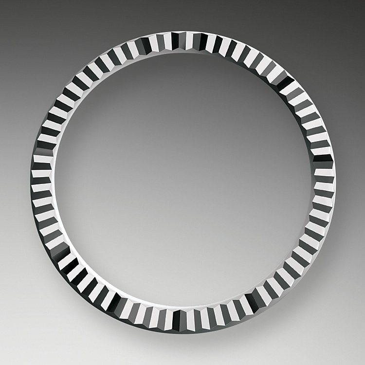 the fluted bezel oystersteel and white gold 50780