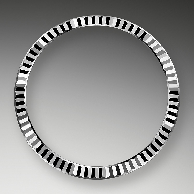 the fluted bezel oystersteel and white gold 50787