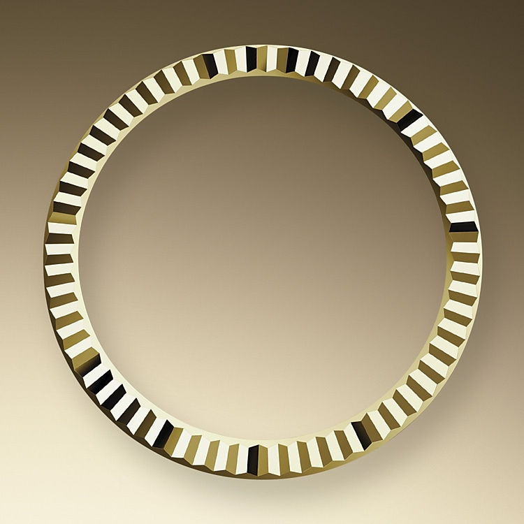 the fluted bezel oystersteel and yellow gold 50592