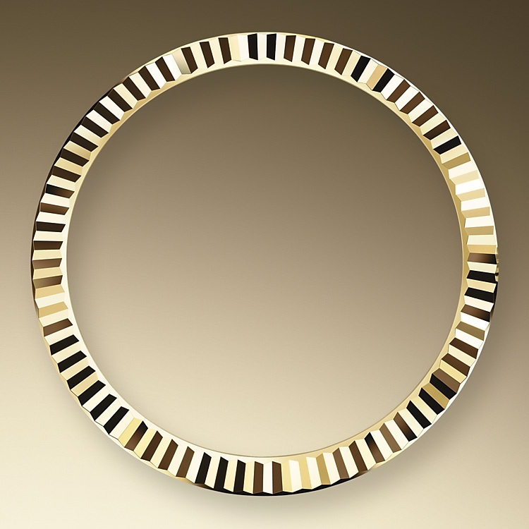 the fluted bezel oystersteel and yellow gold 50642