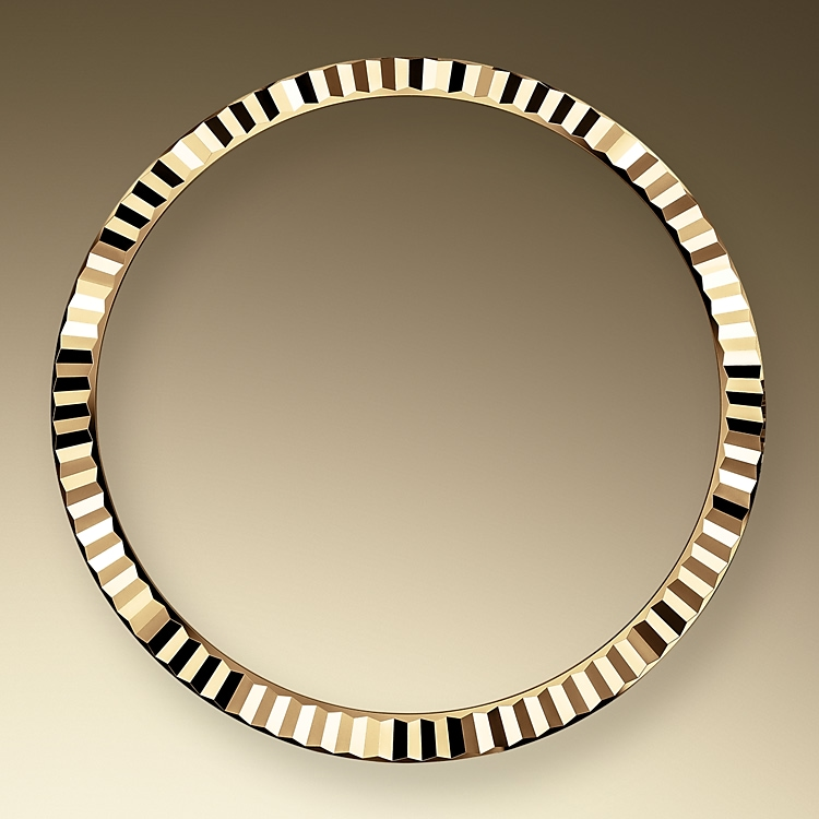 the fluted bezel oystersteel and yellow gold 50798