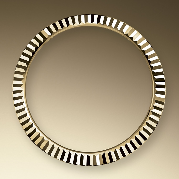 the fluted bezel oystersteel and yellow gold 50863