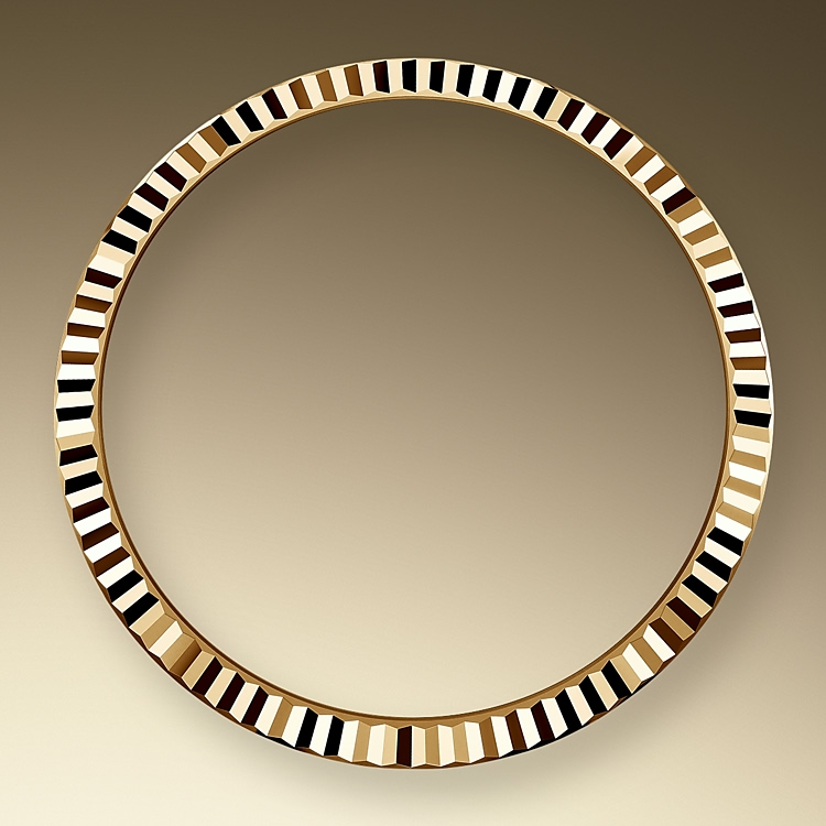the fluted bezel yellow gold 46126