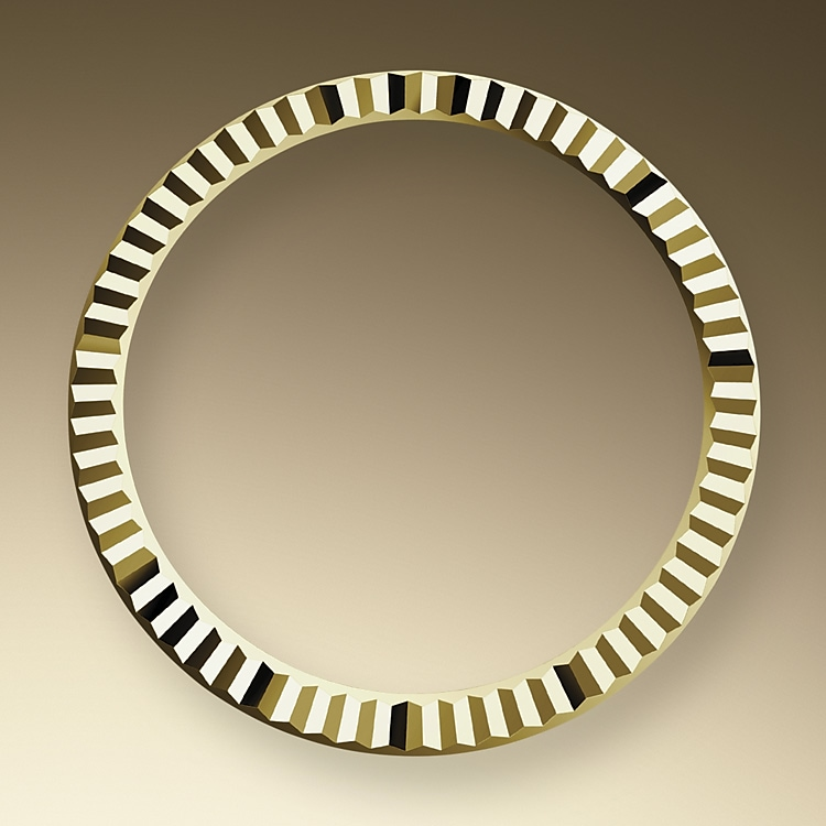 the fluted bezel yellow gold 50301