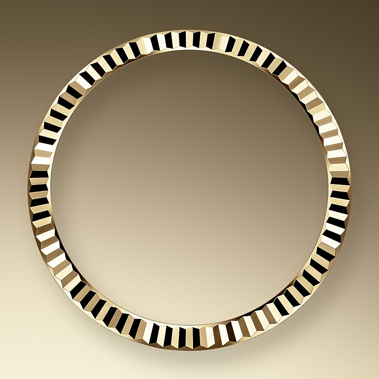the fluted bezel yellow gold 50597