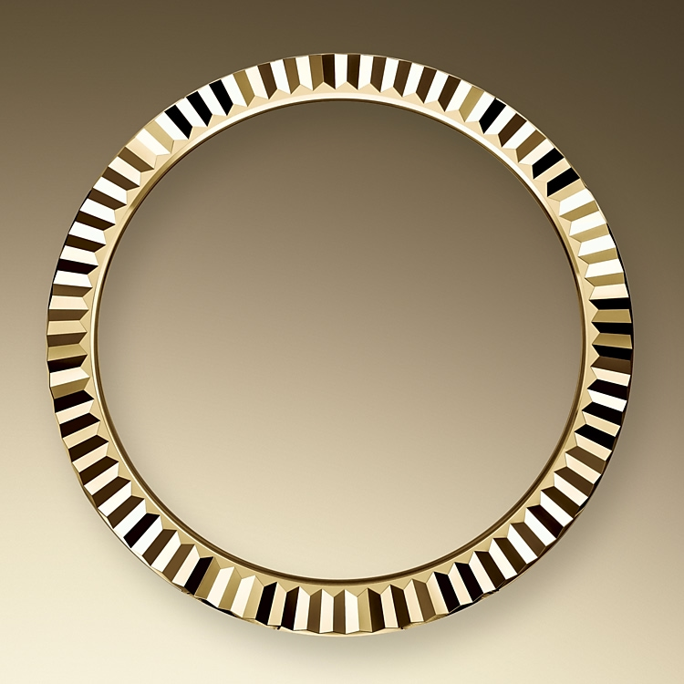 the fluted bezel yellow gold 51727