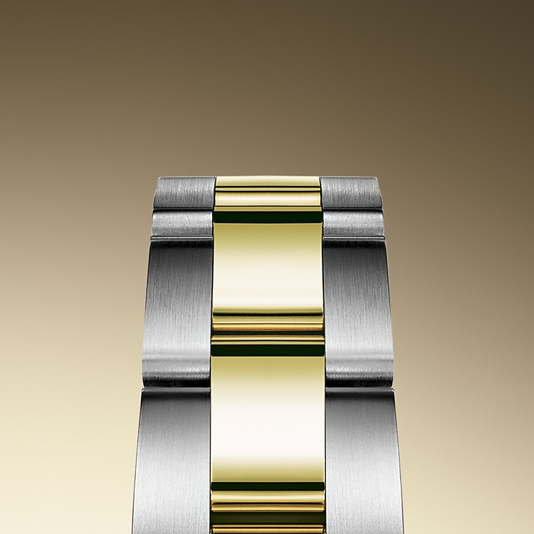 the oyster bracelet oystersteel and yellow gold 50607