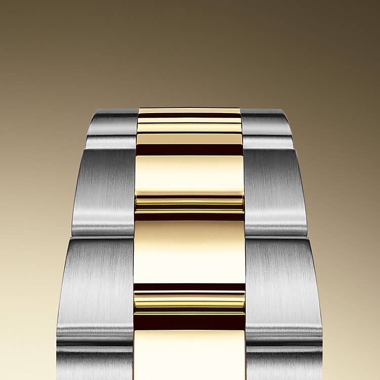 the oyster bracelet oystersteel and yellow gold 50648