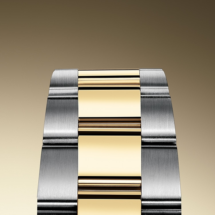the oyster bracelet oystersteel and yellow gold 50820