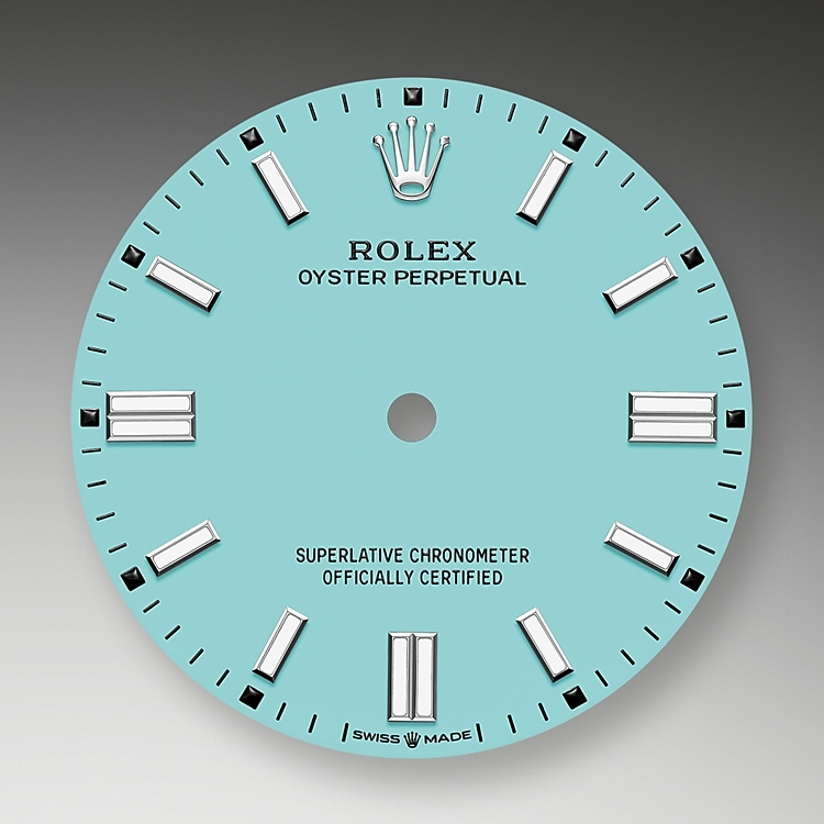 turquoise blue dial oystersteel 52180 g 36
