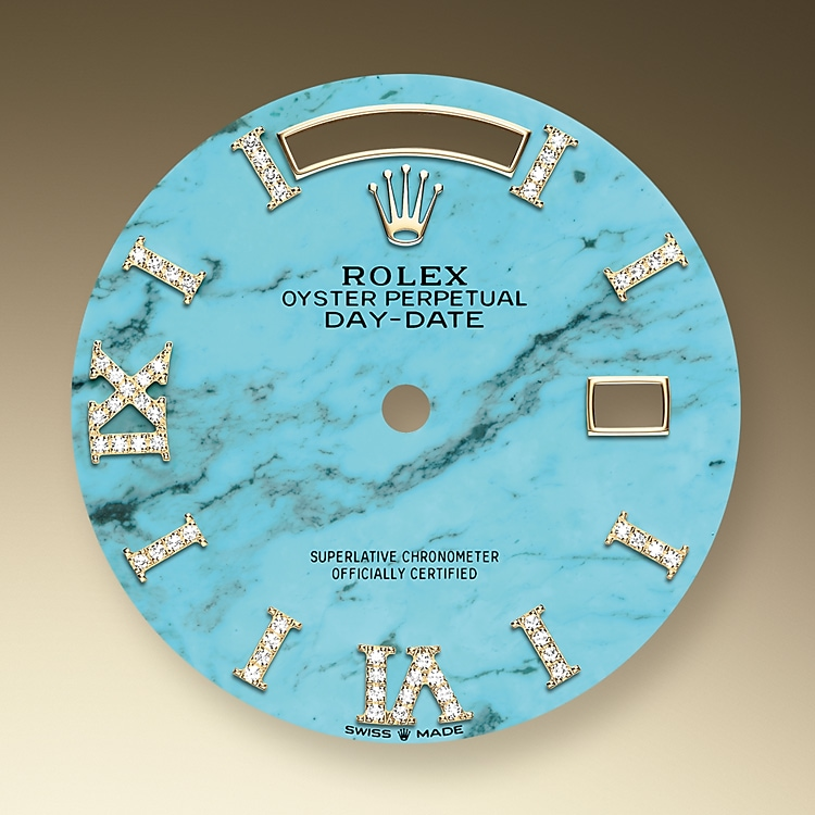 turquoise dial yellow gold and diamonds 51970 y 36