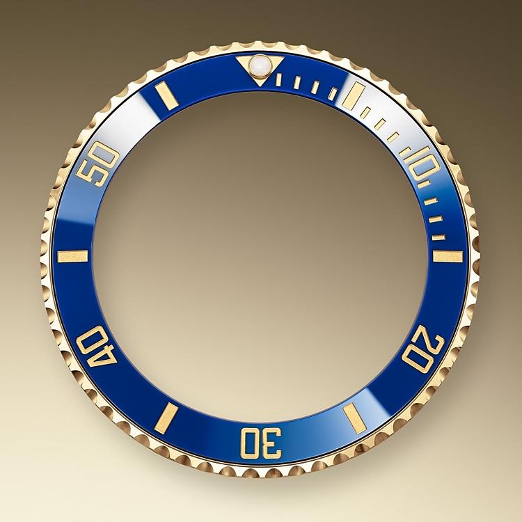 unidirectional rotatable bezel yellow gold 50892