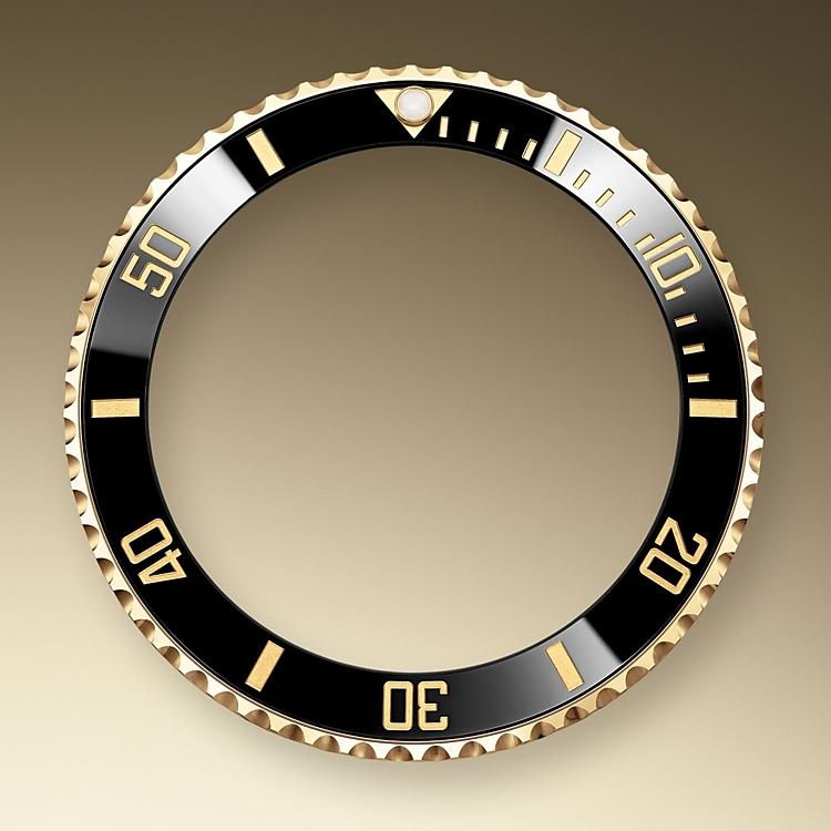 unidirectional rotatable bezel yellow gold 50893