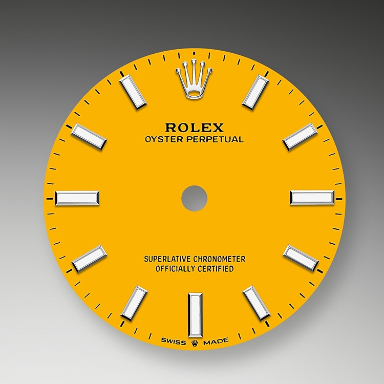 yellow dial oystersteel 52174 g 31