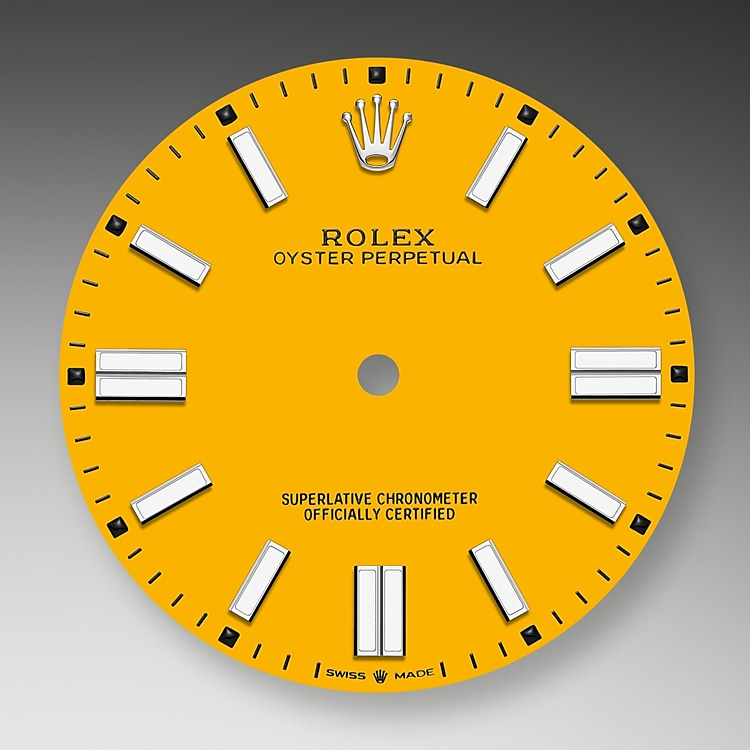 yellow dial oystersteel 52182 g 41